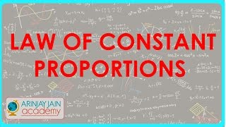Class XI - CBSE, ICSE, NCERT -  Law of constant Proportions