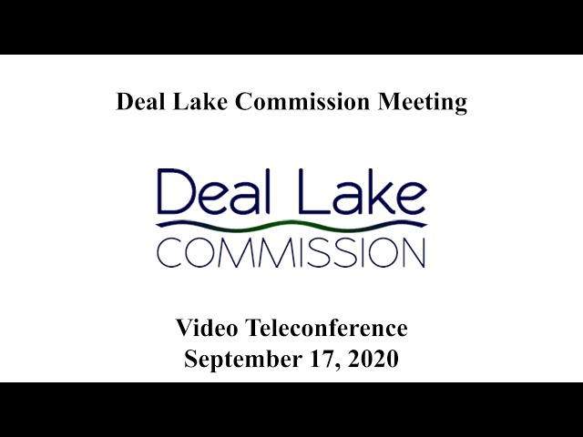 Deal Lake Commission Meeting - September 17, 2020