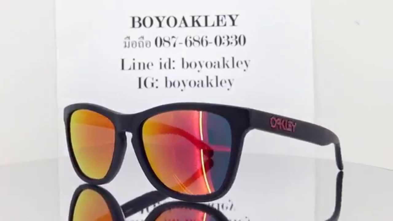 128421eb13cb5 Oakley Frogskins LX oo2043-02 Oakley ของแท้ ถูกสุดในไทย - YouTube