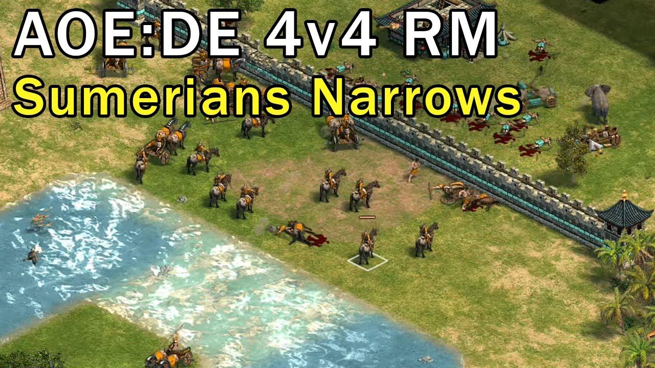 Age of Empires: Definitive Edition - 2v2v2v2 RM Sumerians - eartahhj -  04/03/2018