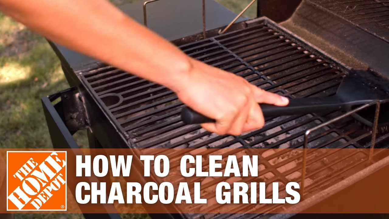 How To Clean A Charcoal Grill The Home Depot