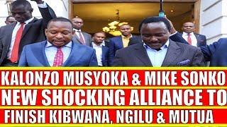 Kalonzo Shocking Alliance with Mike Sonko to Destroy Kivutha Kibwana and Charity Ngilu