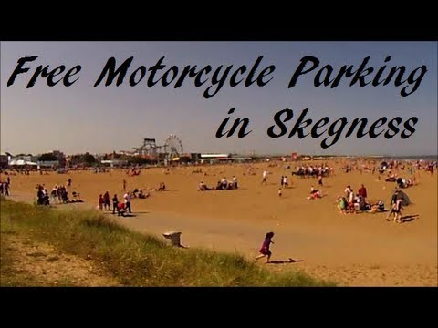 Free Motorcycle Parking in Skegness, Lincolnshire, UK.