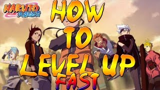NARUTO ONLINE !!! HOW TO LEVEL UP FAST!!!!!!!