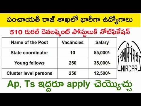 Rural Development and panchayati raj sakha jobs notification | latest jobs Telugu | Total Informatio