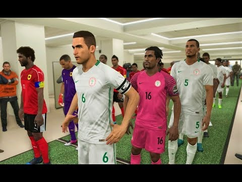 Nigeria vs Angola | African Cup of Nations | PES 2018 Gameplay HD