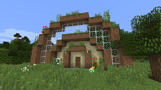Дом из земли в майнкрафт за 20 минут - MInecraft - Майнкрафт карта