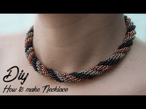 (DIY) HOW TO MAKE NECKLACE   NECKLACE TUTORIAL   JEWERLY MAKING