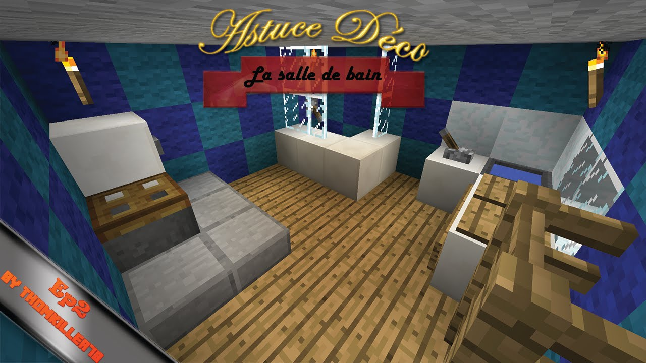 astuce d co minecraft ep2 la salle de bain youtube. Black Bedroom Furniture Sets. Home Design Ideas