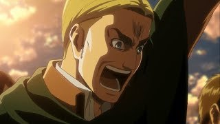 Shingeki No Kyojin (Attack On Titan) Season 3 Episode 12 -  Erwin Smith Epic Scream