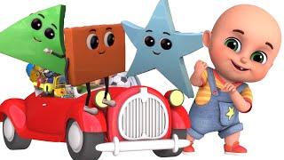 Learning Shapes At Home |Jugnu kids nursery rhymes & Kids Songs