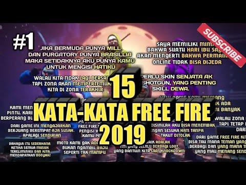 KUMPULAN KATA-KATA FREE FIRE 2019