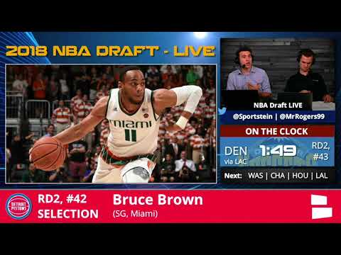 Detroit Pistons Select Bruce Brown From Miami With Pick #42 In 2nd Round Of 2018 NBA Draft