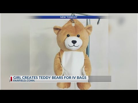 Andi and Kenny  - Girl with Autoimmune Disease Creates Teddy Bear to Hide IV Bags