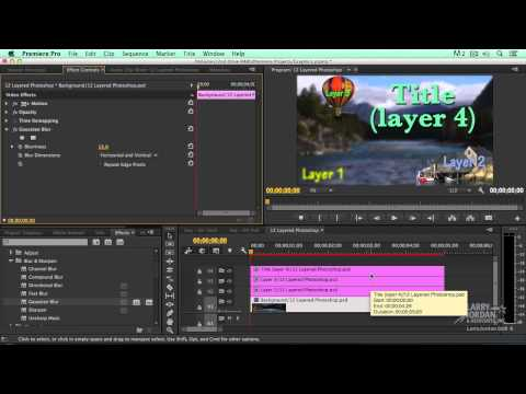 How To Import Layered PSDs
