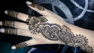 Simple Arabic Henna - Arabic Fusion Style Mehndi Design video