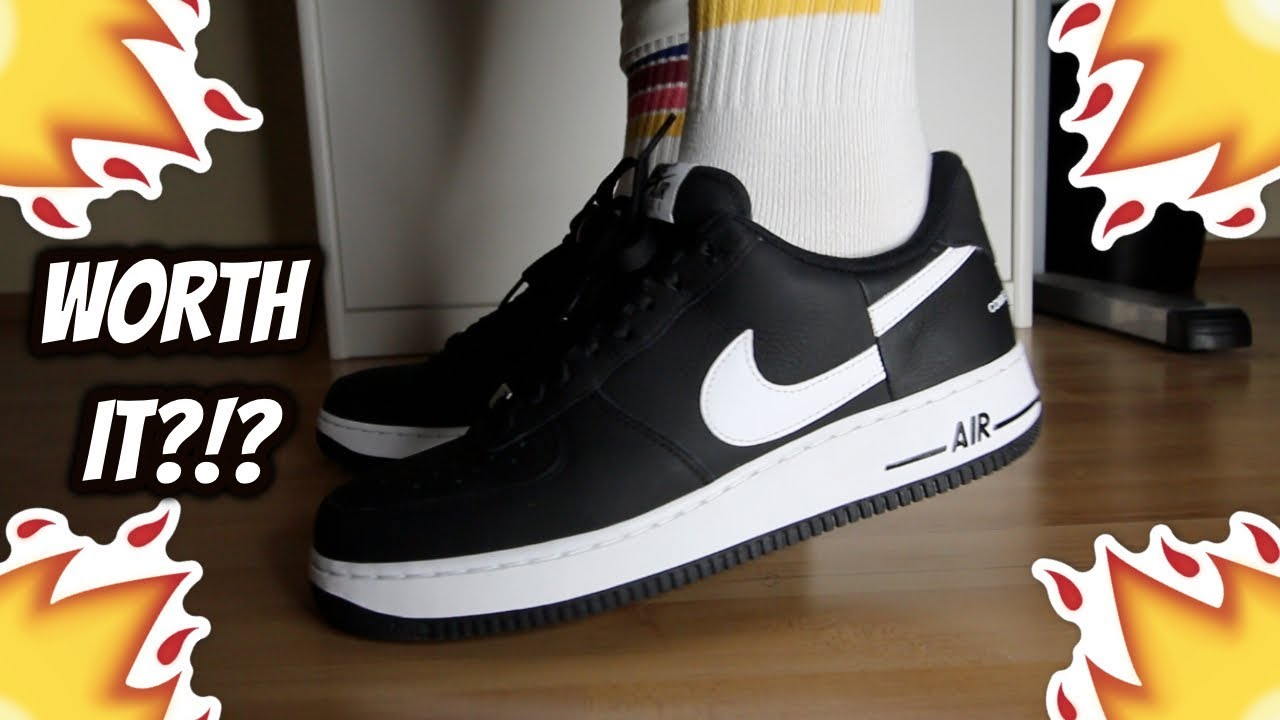 Hacia atrás evitar léxico  Supreme®/CDG Nike Air Force 1 Low REVIEW/ON-FEET - YouTube