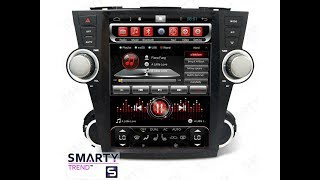 The SMARTY Trend head unit for Toyota Highlander (2007-2014).