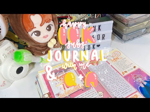 K-pop Journal With Me - Happy 10,000 Subs + Q&a! *:・゚✧ | Kkinotes