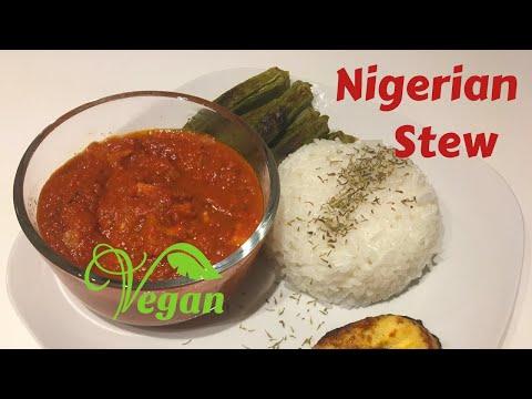 Vegan Nigerian Stew Recipe // Healthy Red Tomato Stew