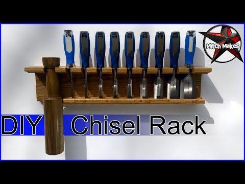 Chisel Rack DIY & Wood Mallet Holder