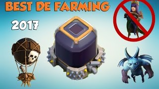 """Th9 Best """"DARK ELIXIR"""" Farming STRATEGY   2017   Without Heroes   Clash Of Clans"""