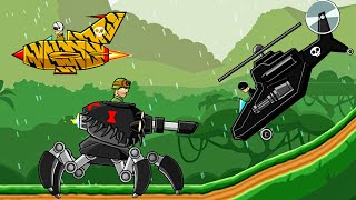 ARACHNO TANK VS. HELICOPTERS AIRCRAFTS - JUNGLE PATROL   Hills of Steel Game for Kids