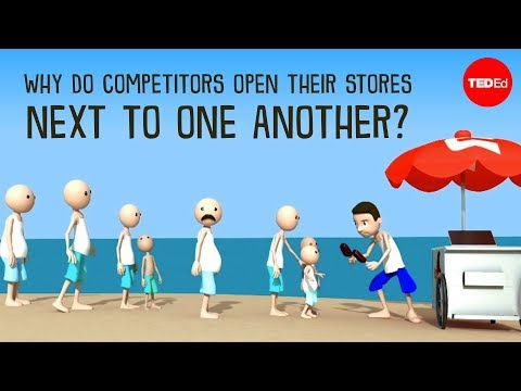 Video image: Why do competitors open their stores next to one another? - Jac de Haan