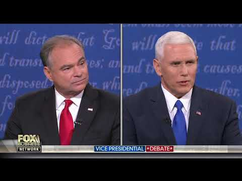 2016 Vice Presidential Candidates Debate - October 4th, 2016