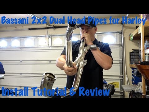 Bassani 2x2 Dual Head Pipes For Harley Touring-Install Tutorial & Review