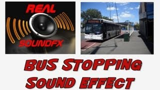 Bus pulling into bus stop sound effect - realsoundFX