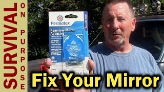 How To Repair a Rear View Mirror On Most Vehicles