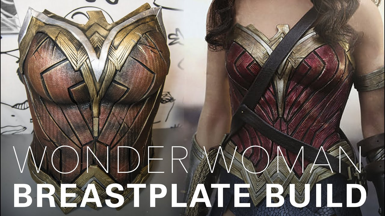 Wonder Woman cosplay breastplate tutorial by Gladzy YouTube