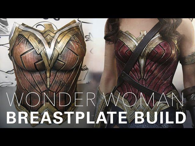 Wonder Woman Cosplay Breastplate Tutorial By Gladzy Youtube