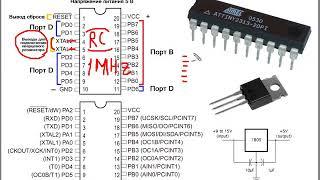 5 урок. Начальные сведения о микроконтроллере attiny2313