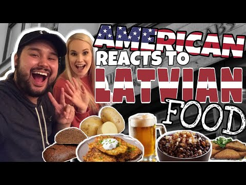 Americans REACTS // Latvian Food Ft. Jess On A Quest