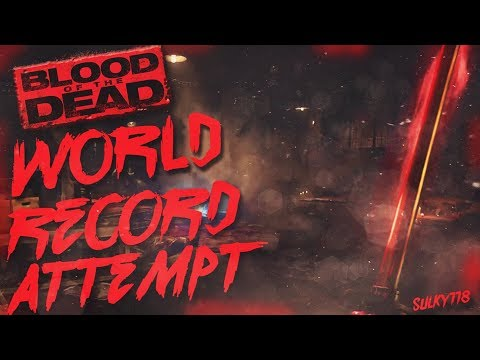 (1-75)Blood Of The Dead World Record Attempt - Black Ops 4 Zombies