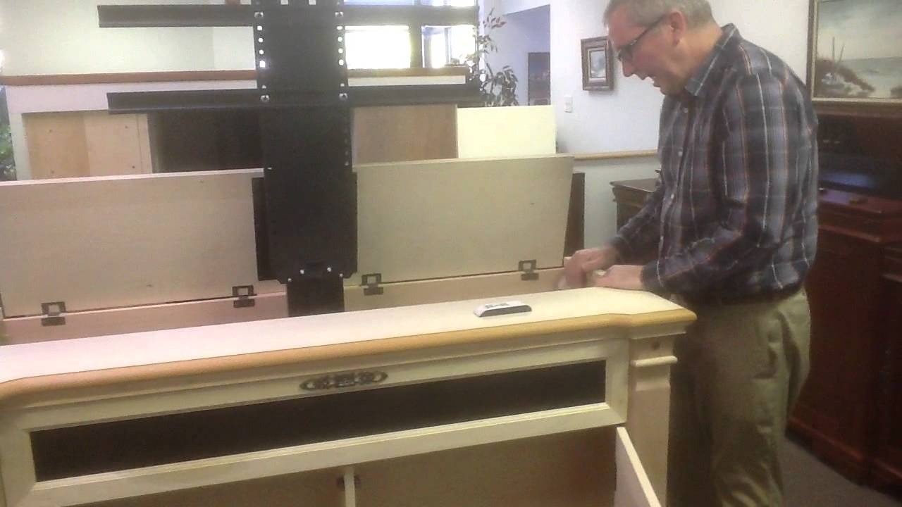 adonzo tv lift cabinet unfinished