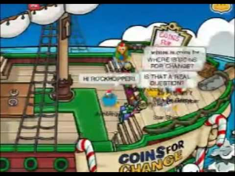 Coins for Change 2008 in Club Penguin