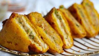 Stuffed Bread Pakoda Recipe | Aloo Bread Pakora | How To Make Bread Pakoda