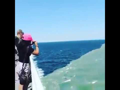 the pacific atlantic ocean meeting line amazing place youtube