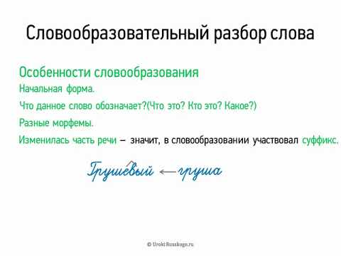 Как делается словообразовательный разбор слова примеры