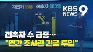 [앵커의 눈] 접촉자수 급증 '역학조사 비상'…인력 확보 어떻게? / KBS뉴스(News)