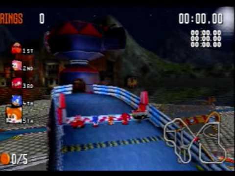 Sega Saturn A Z Sonic R Gameplay Youtube