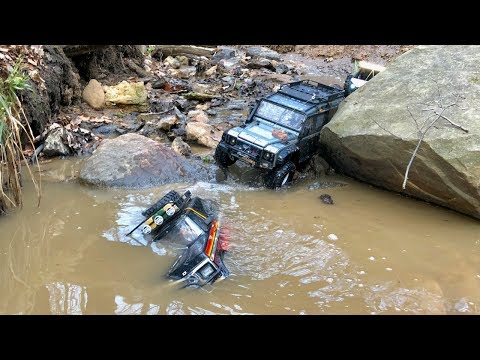Traxxas TRX-4, Vaterra Ascender and Gmade GOM trial ride