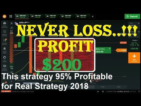 This Strategy 95% Profitable for Real Strategy 2018  | Binar