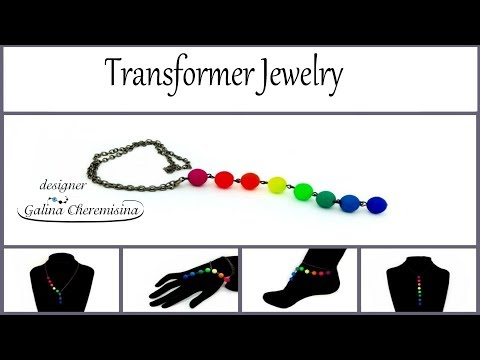 DIY 5min Craft Video Tutorial | How to Make Transformer Jewelry with UV Active Neon Beads