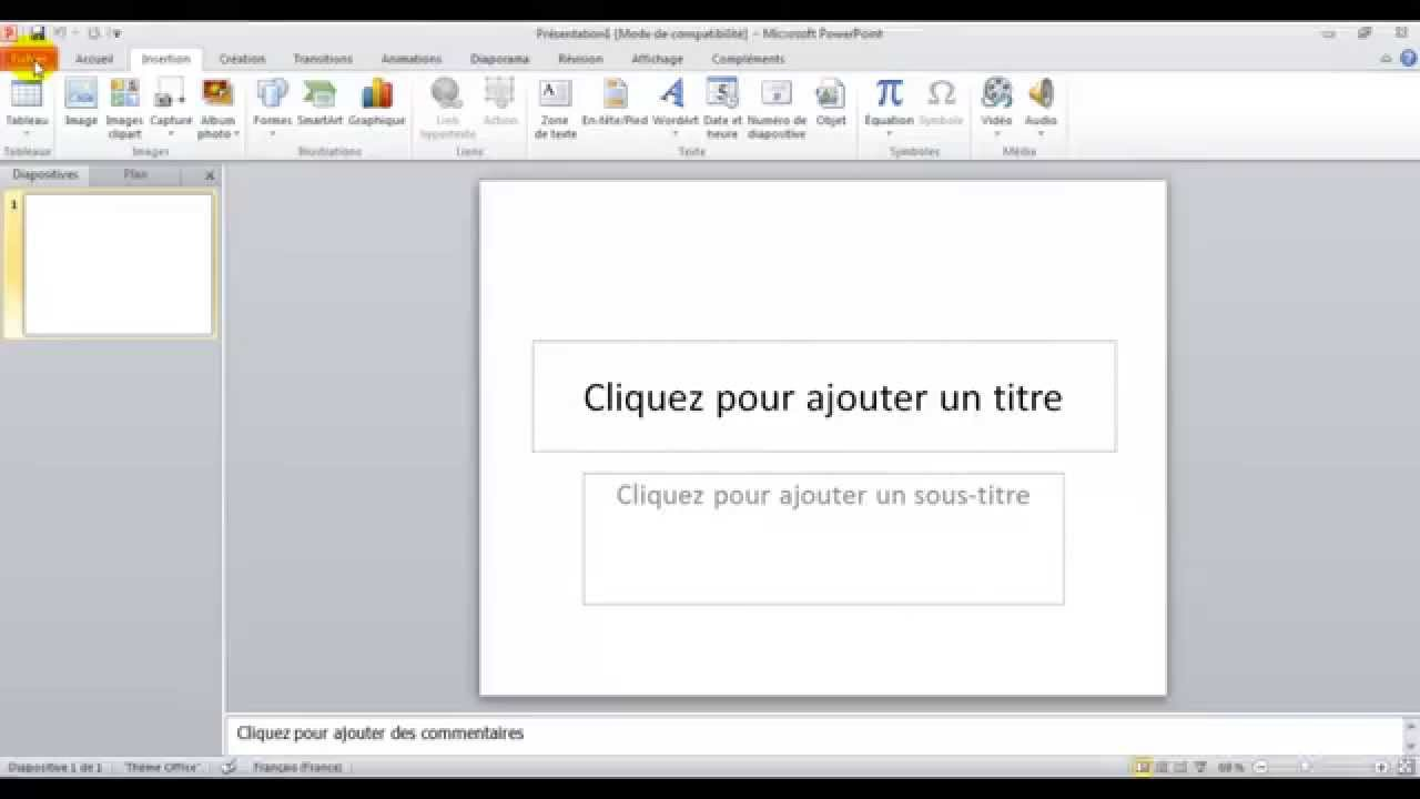 how to make a video loop in powerpoint 2010