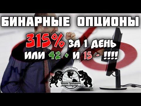 Бинарные Опционы - 315% за 1 день или 42 + и 15 - !!!!