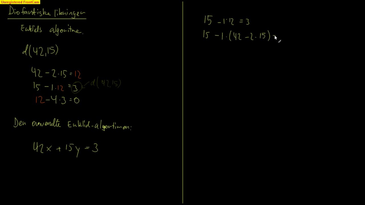 Tallteori 5.1 - Euklids algoritme omvendt